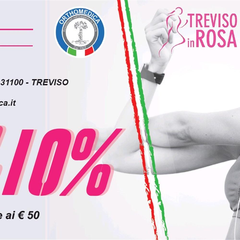 19 Maggio 2019: partecipa con lo staff di Orthomedica alla Treviso in Rosa