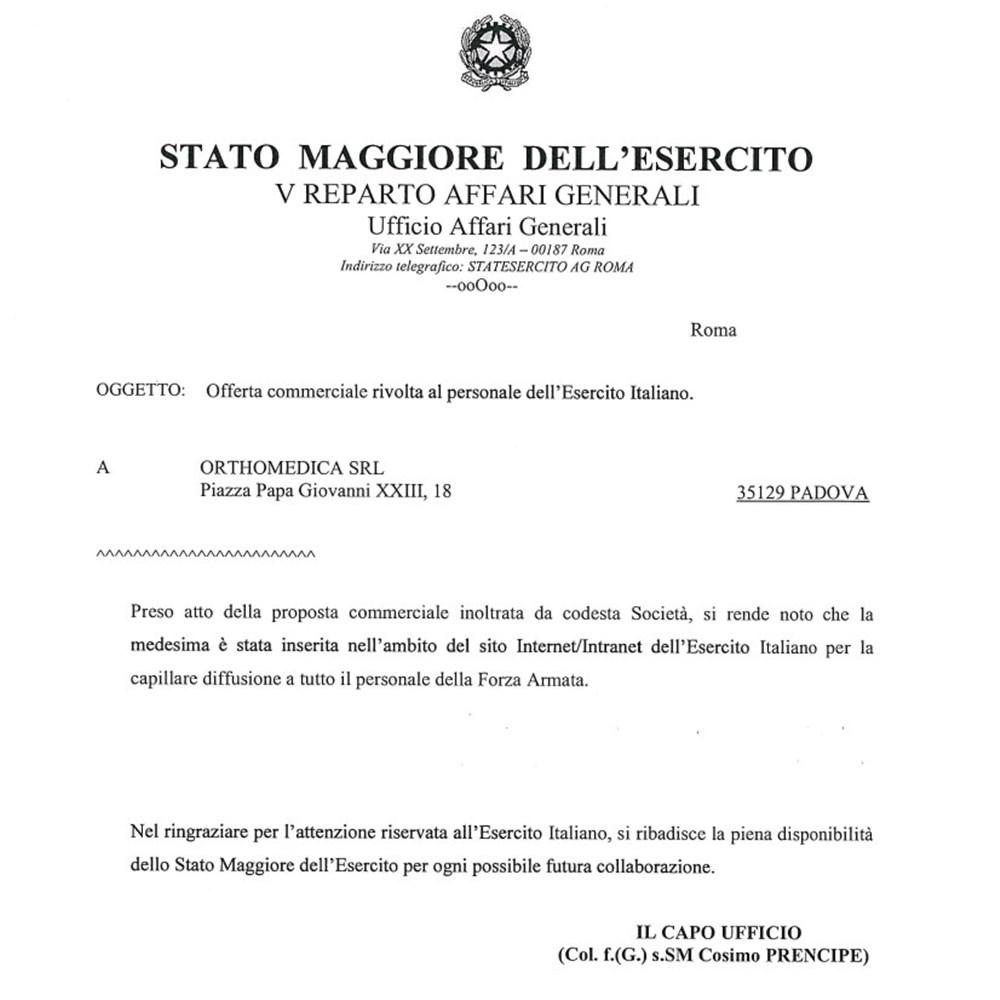 CONVENZIONE ESERCITO ITALIANO